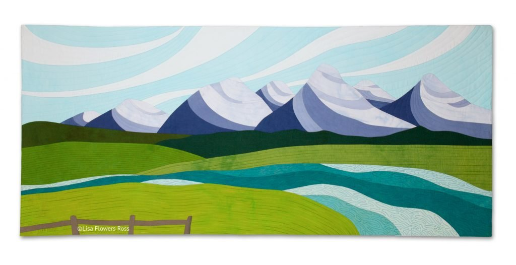 Commissioned artwork Teton Tranquility by Lisa Flowers Ross.