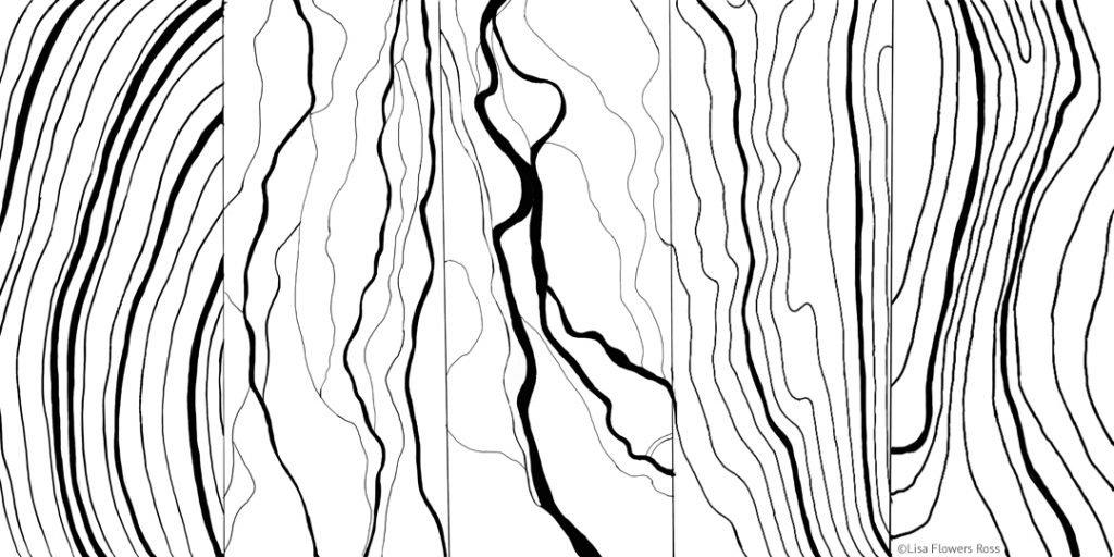 Portrait of Flathead Lake Artwork - preliminary drawing