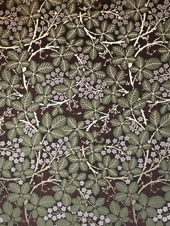 Victorian wall paper in William Morris style